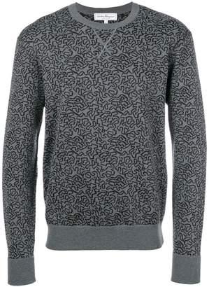 Salvatore Ferragamo graphic knit jumper
