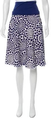 Alice + Olivia Dot Print Silk Skirt