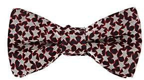 Valentino Men's Star-Pattern Silk Jacquard Bow Tie-Black