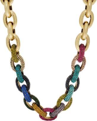 Logo By Lori Goldstein LOGO Links Lavish Rainbow Pave Links Necklace