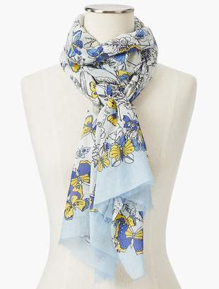 Talbots Allover Butterfly Scarf