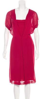 Alberta Ferretti Short Sleeve Midi Dress