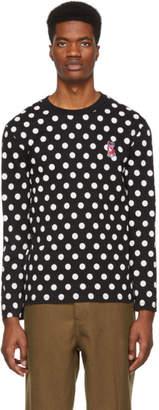 MAISON KITSUNÉ Black Dots Acide Fox Long Sleeve Shirt
