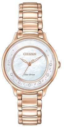Citizen Women's Eco-Drive Diamond Circle of Time Bracelet Watch, 30mm - 0.008 ctw