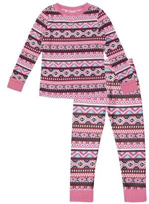 Cuddl Duds ClimateRight by Stretch Fleece Warm Long Underwear (Toddler Girls)