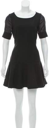 Elizabeth and James Silk-Accented Mini Dress