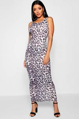 boohoo Leopard Print Maxi Dress