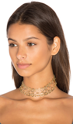 Vanessa Mooney Belinda Choker in Metallic Gold. $92 thestylecure.com