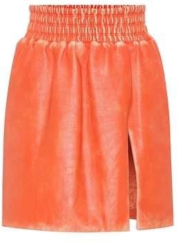 Miu Miu Leather miniskirt