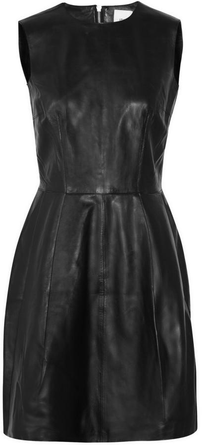 Iris & Ink Pleated leather dress
