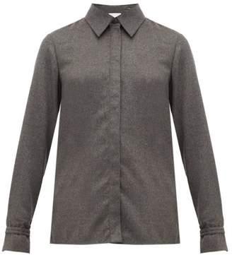 Gabriela Hearst Cruz Cashmere Shirt - Womens - Dark Grey
