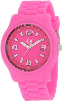 Haurex H2X Women's SF381XF1 Splash Luminous Water Resistant Neon Soft Rubber Watch