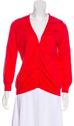 Neiman Marcus Long Sleeve Button-Up Cardigan