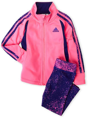 adidas Infant Girls) Two-Piece Tricot Jacket & Printed Leggings Set