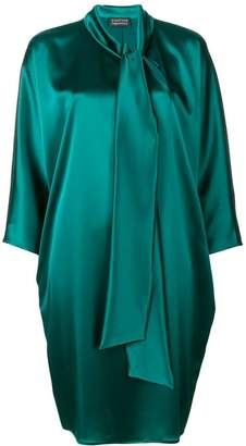 Gianluca Capannolo bow tie cocoon dress