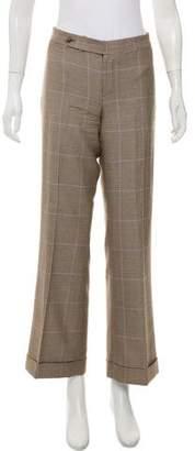 Ralph Lauren Mid-Rise Plaid Pants
