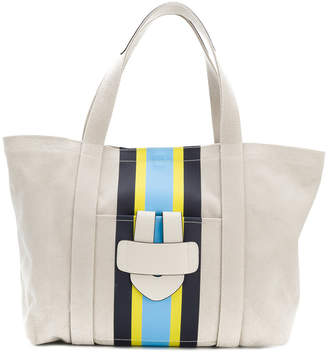 Tila March Simple striped shopper tote