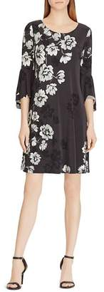 Ralph Lauren Print Flutter-Sleeve Dress