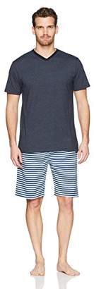 The Slumber Project Men's Short Sleeve V-Neck Tee and Knit Sleep Short (