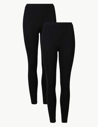 Marks and Spencer PETITE 2 Pack Cotton Rich Leggings