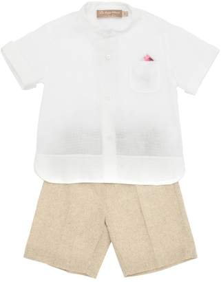 La Stupenderia Cotton Gauze Shirt & Twill Shorts
