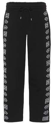 Embroidered cotton sweatpants