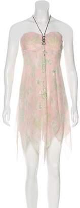 Mary Katrantzou Printed Embellished Dress Pink Printed Embellished Dress
