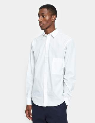 Lemaire Straight Collar Shirt in Chalk