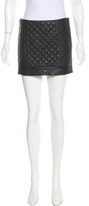 Haute Hippie Quilted Leather Skirt w/ Tags