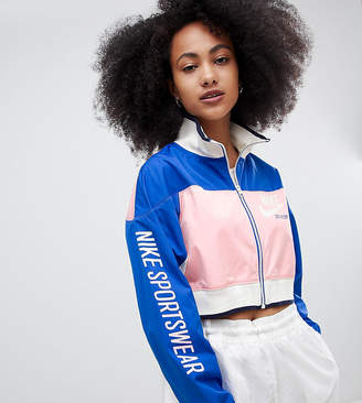 Nike Archive Track Jacket In Pink And Blue