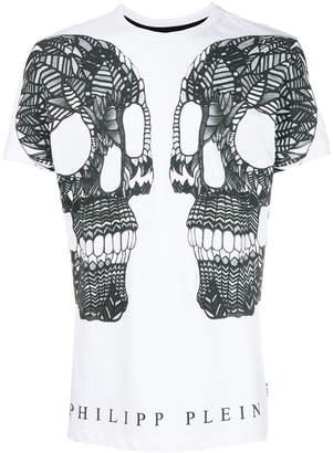 Philipp Plein double skull graphic T-shirt