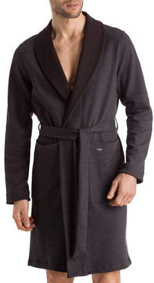 Hanro Lewin Heathered Reversible Robe