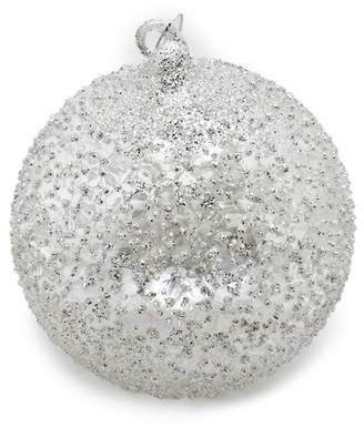 Silver Tree Translucent Glass Ball Ornaments