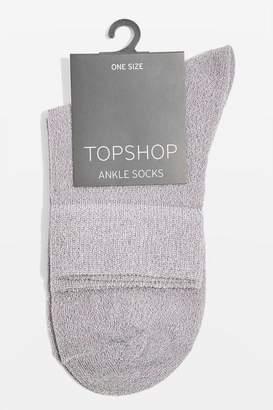 Topshop Deep Welt Glitter Ankle Socks