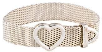 Tiffany & Co. Heart Buckle Mesh Bracelet