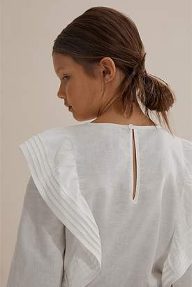 Country Road Topstitch Frill Shirt
