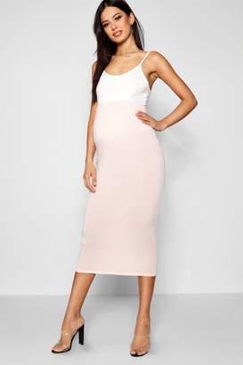 boohoo Maternity Over The Bump Midi Skirt