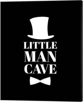 Metaverse Little Man Cave Top Hat And Bow Tie - Black By Color Me Happy Canvas Art