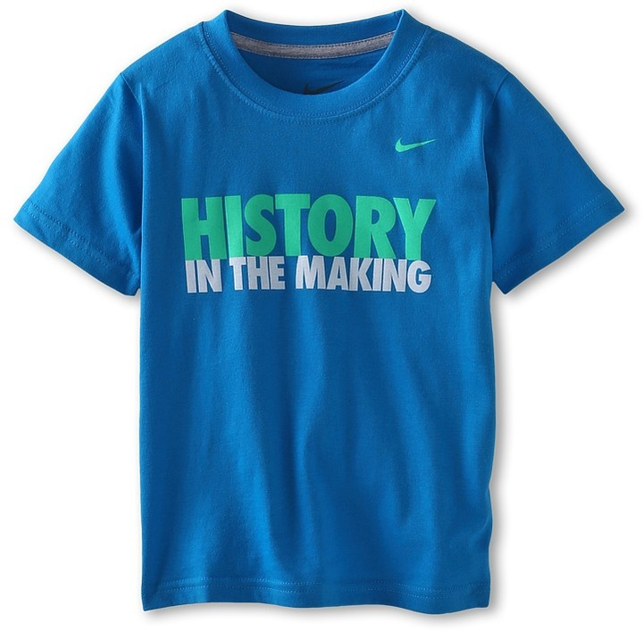 Nike History In The Making Tee (Little Kids) (Blue Hero) - Apparel