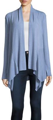 ST. JOHN'S BAY Long Sleeve Open Front Cardigan