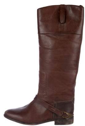 Golden Goose Round-Toe Leather Boots