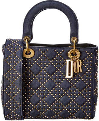 Christian Dior Medium Lady Quilted & Studded Tote