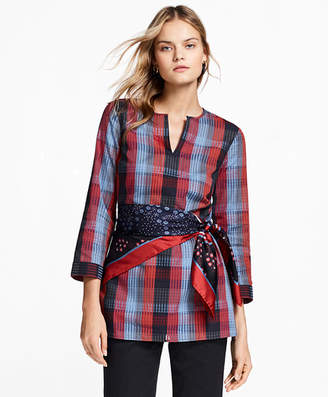 Brooks Brothers Plaid Cotton Tunic