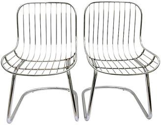 One Kings Lane Vintage '60s Italian Chrome Slipper Chairs - Set of 2 - Jacki Mallick Designs