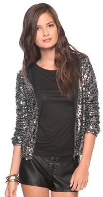 Forever 21 Sequin Jacket  Hood