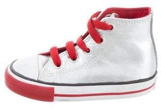 Converse Kids' Metallic Leather Sneakers
