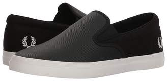 Fred Perry Underspin Slip-On Checkerboard Leather/Canvas Men's Shoes