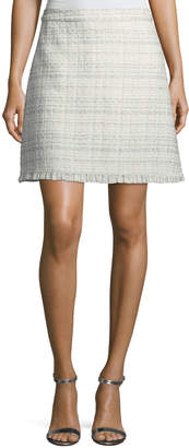 Kate Spade sparkle tweed a-line skirt, cream