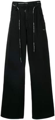 Off-White logo drawstring jeans