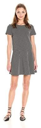Paris Sunday Women's Short Sleeve Jacquard Ponte 2 Piece Skirt Set